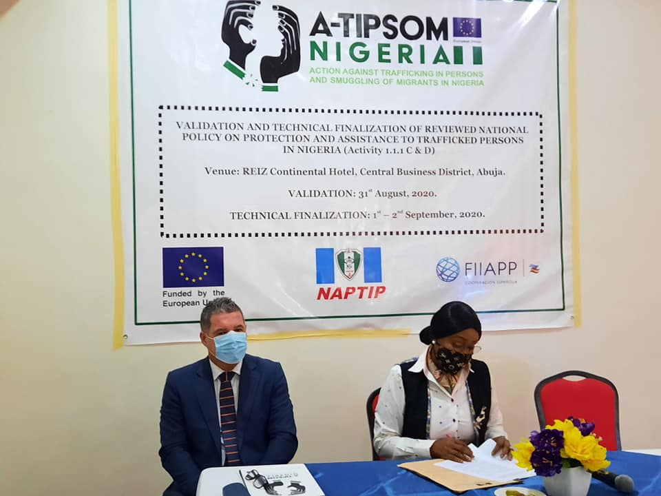 EU and FIIAPP Through A-TIPSOM Project Supports NAPTIP to Validate National Document to aid Trafficked Persons in Nigeria