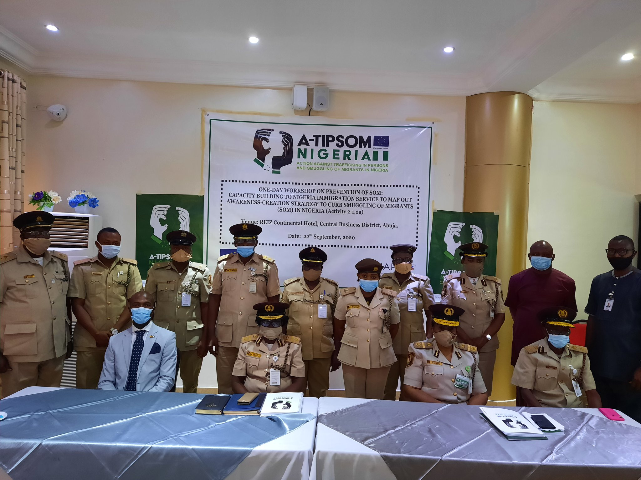 FIIAPP  and Nigeria Immigration Service Hold a One-Day Workshop on Prevention of Smuggling of Migrants