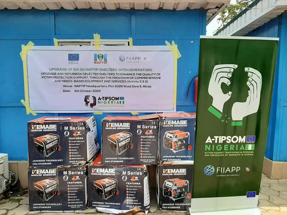 FIIAPP Donates Generators to NAPTIP and NACTAL Shelters