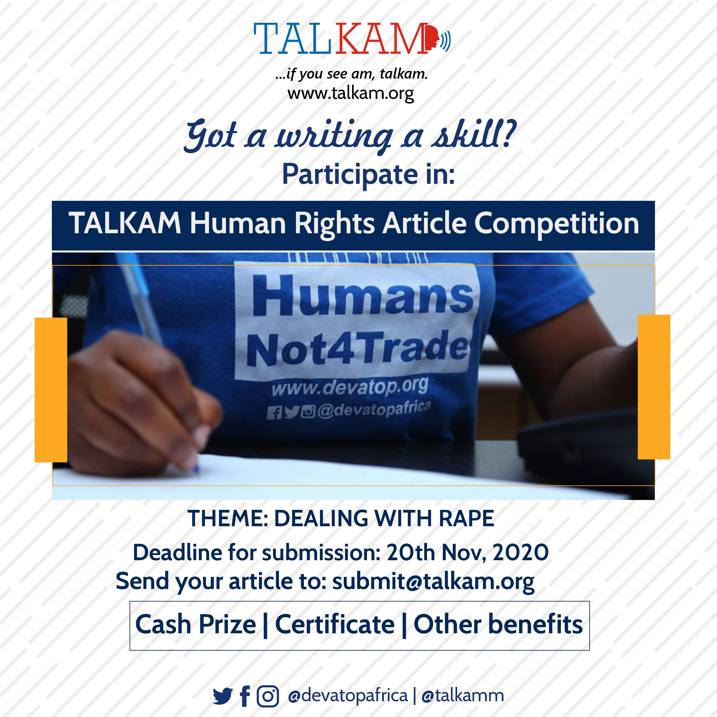 Talkam Human Rights Article Competition
