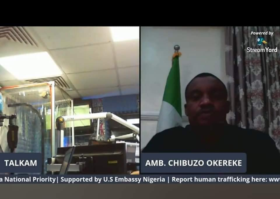 TALKAM Radio Program: Making Human Trafficking a National Priority in Nigeria with Amb. Chibuzo Okereke