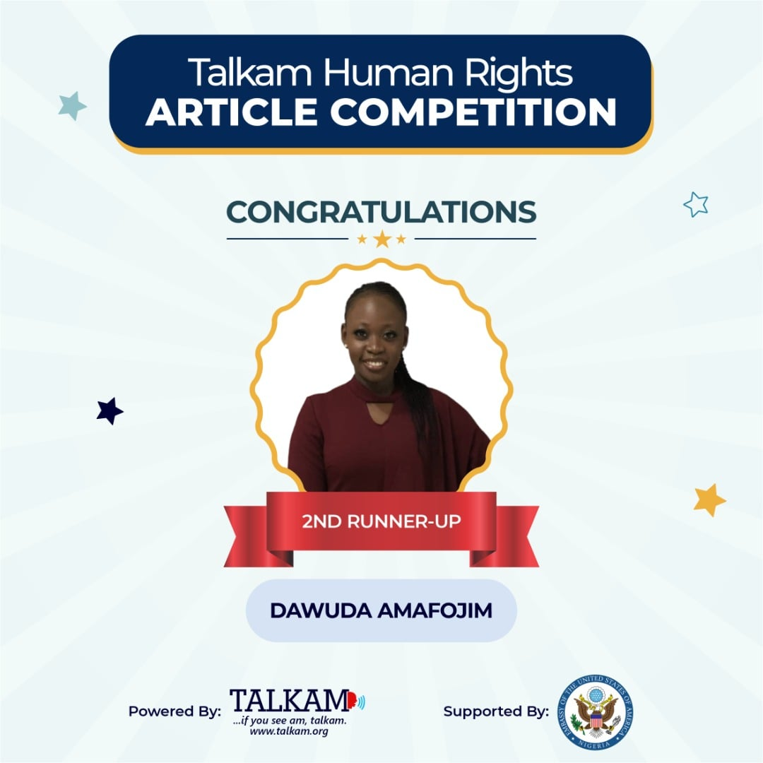 Meet Amafojim Dawuda, the 2nd Runner-Up  of TALKAM Human Rights Article Competition 2021