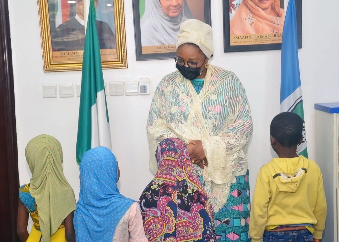 NAPTIP HANDS OVER TRAFFICKED CHILDREN TO PARENTS. … ARRAINGS SUSPECT IN COURT